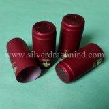 Capsules faites sur commande de rétrécissement de PVC de qualité pour le cachetage de capsule