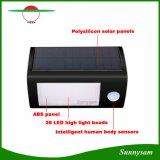 Al aire libre impermeabilizar 28 la luz de la pared del sensor de movimiento de la energía solar PIR del LED