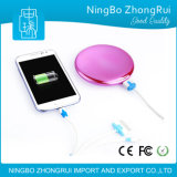 Real 4000 mAh Portable Cute External Battery Chargeur USB Power Bank Universal avec miroir cosmétique