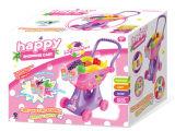 Carrello di acquisto di plastica del giocattolo del carrello di acquisto con indicatore luminoso (H0009426)