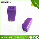 Colorful 2.1A + 1A Dual 2 USB Mobile Travel Chargeur Us Chargeur mural pour Nokia Samsung HTC Blackberry