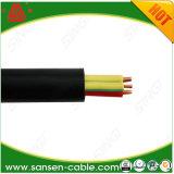 PVC isolado com cabo redondo do núcleo de cobre e da bainha clara do PVC