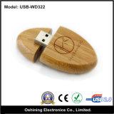 Azionamento di legno del USB di figura ovale (USB-WD322)