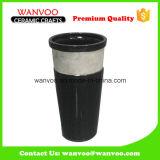 Vaso di ceramica nero della parete del vaso del pavimento del vaso di fiore degli stili differenti