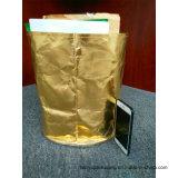 Saco do armazenamento do papel Washable, saco de papel Washable metálico para o armazenamento