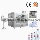 Botella de agua líquida plástica del animal doméstico rotatorio automático lleno que aclara la máquina que capsula de relleno que se lava
