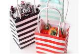 Креста полосы бумаги стороной ручки сумки свадебные подарком сумки