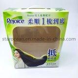 Empaquetado plástico de la extensión del pelo del PVC