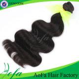 A alta qualidade 24inch afrouxa a extensão do cabelo humano do Virgin da onda