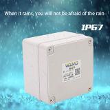 IP67 de plástico ABS resistente al agua IP68 caja de empalmes eléctricos