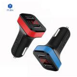 Alquiler de accesorios de carga doble USB Adaptador de cargador de coche 2 Puerto USB 2.4A LED Smart Car Charger for iPhone