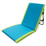 쉬운 Foldable 건장한 금속 프레임 휴대용 로비 비치용 의자 매트