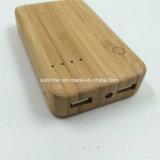 alimentación de Batería 6000mAh de energía de bambú Banco con el logotipo de están ajustadas