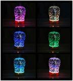3D 7つのLEDカラー夜ライトが付いているガラス電気香りの拡散器