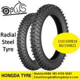 道のタイヤまたは放射状のオートバイのタイヤ110/100b18 80/100b21の放射状の鋼鉄オートバイのタイヤを離れた泥