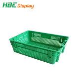 Recipiente de plástico, gavetas, sacola de malha, Engradado de vegetais e frutas Caixa para venda