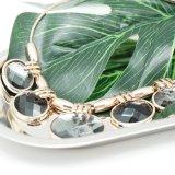 女性のイブニング・ドレスのためのガラス水晶楕円形の吊り下げ式文のネックレス