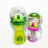 Contenitore impaccante di bolla dell'animale domestico della radura della paglia della bottiglia di bambino con la scheda di stampa