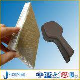 Panneau d'Honeycomb renforcé de fibre de verre panneau sandwich en aluminium