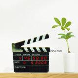 Reloj de alarma eléctrico del regalo del escritorio de la chapaleta de la película del LED Digital