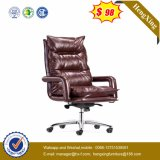 브라운 가죽 의자 호화스러운 두목 사무실 의자 (Hx-A8047)