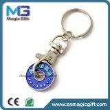 Moeda relativa à promoção Keychain do ferro do carro de compra