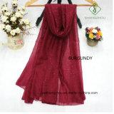 Voile-Ebene mit besprühen moslemische Schal-Großverkauf-Dame Fashion Scarf