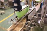 Dessus automatique de cuvette et machine à étiquettes de côtés du côté deux