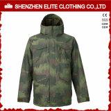 軍隊緑メンズ冬のフード(ELTSNBJI-27)が付いている暖かいSnowbaordのジャケット