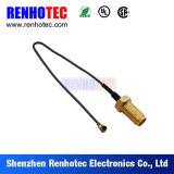 Connecteur de fil RF plaqué or SMA femelle connecteur droit pour RG174 Assemblage de câble RG58