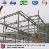 Almacén ligero/taller de la estructura de acero con el pabellón