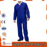 Les hommes 100% bleus de coton court- la combinaison de chemise pour l'ouvrier