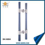 Traitement de porte de verre cristal de traitement de traction d'acier inoxydable