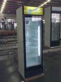 360L de Ce Goedgekeurde Koelkast van de Deur van het Glas Enige met Wielen