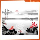 Восход солнца на картине озера напечатанной Inkjet китайской для домашнего украшения