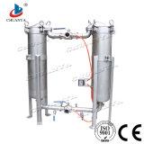 Cárter del filtro industrial del cartucho del bolso del paralelo del duplex de la filtración del agua del acero inoxidable de la alta calidad