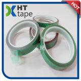 Adhésif anti-calorique enduit de silicones de polyester de bande verte d'animal familier