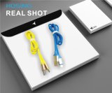 cable de goma del USB del cable de datos de la TPE de los 3FT para el iPhone