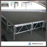 Этап согласия алюминиевого модульного этапа напольный для проекта этапа представления