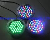 Yaye 18 AC/DC12/24V 36W LED 수영풀 빛 IP68/36W는 백색 LED 샘 빛/RGB LED 샘 빛을 데운다