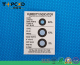 Auszuzacken Feuchtigkeitsanzeiger-Karte Hic Blau