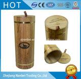 Contenitore impaccante di marchio di singolo della bottiglia contenitore di legno rotondo su ordinazione di vino