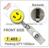 Double Side Lächeln Badge Reel T-401 / T-402 / T-403 / T-404 / T-405 / T-406 / T-407 / T-408 / T-409 / T-410 / T-411 / T -412