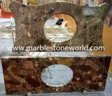 Parte superior da vaidade de quartzo/mármore/granito para a cozinha/banheiro