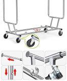 Регулируемый двойной стеллаж для просушки шкафа одежды одежды завальцовки рельса, отделка Jp-Cr406 крома