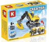 1대의 건축 트럭에 대하여 아이 플라스틱 3은 장난감을 막는다