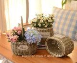(BC-SF1004) 대중적인 Handmade 자연적인 밀짚 꽃 바구니