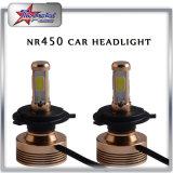 卸し売り100W 10000lm H1/H3/H4/H7極度の明るいLED車のヘッドライト6000kの白4の側面の穂軸チップLEDヘッドライトの球根9005 9006 H13 5202