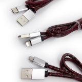 2.1A Matériel en cuir de haute qualité du câble USB de charge
