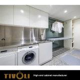 Дома шкафов комнаты прачечного лака лоска MDF мебель Tivo-081VW высокой белой всей деревянная